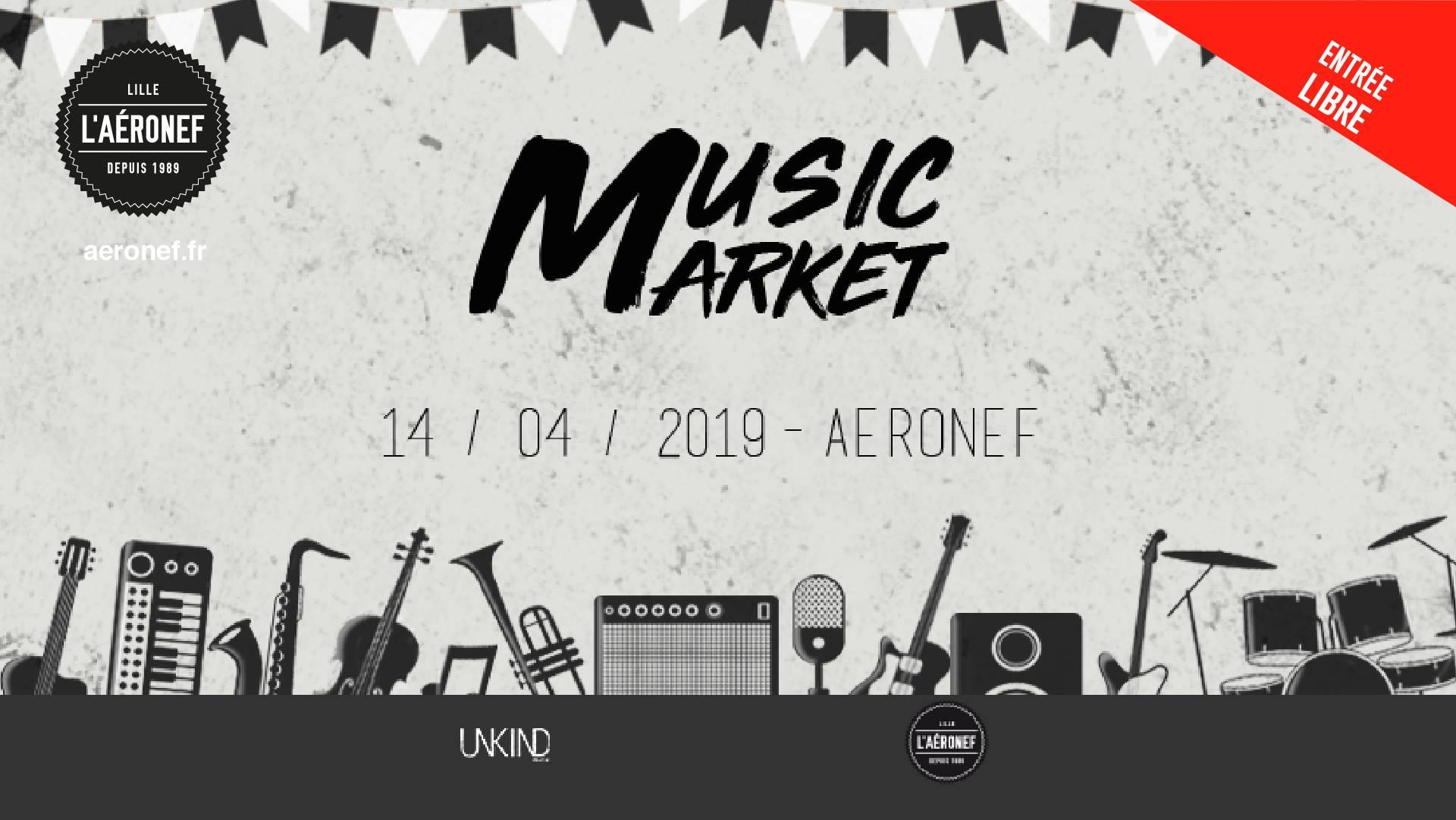 Unkind music market à l'Aéronef